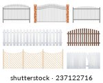 Fence Set On White Background ...