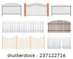 Fence Set On White Background ...