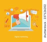 digital marketing flat design... | Shutterstock .eps vector #237126202