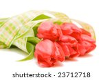red tulips isolated on white.... | Shutterstock . vector #23712718