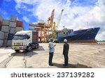 Постер, плакат: foreman control Industrial Container