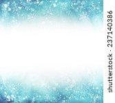 winter illustration. frame with ... | Shutterstock .eps vector #237140386
