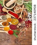 collection powder spices on... | Shutterstock . vector #237140908