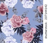 seamless floral pattern with... | Shutterstock .eps vector #237144142