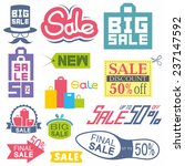 sale tags | Shutterstock .eps vector #237147592
