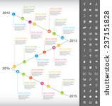 timeline with rainbow... | Shutterstock .eps vector #237151828