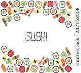 sushi illustration | Shutterstock . vector #237153508
