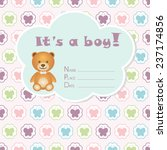 baby boy arrival card. baby... | Shutterstock .eps vector #237174856