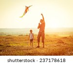 dad with his little daughter... | Shutterstock . vector #237178618