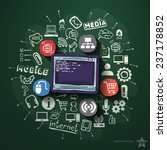 web technologies collage with...   Shutterstock .eps vector #237178852