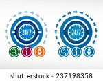 24 hours service icon and... | Shutterstock .eps vector #237198358