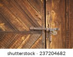 Old Barn Door Latch With...