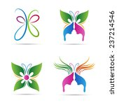 Abstract Butterfly Vector...