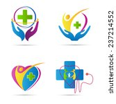 healthcare icons vector design... | Shutterstock .eps vector #237214552