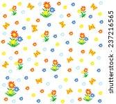 seamless pattern butterflies... | Shutterstock .eps vector #237216565