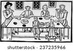 puritan family meal  17th... | Shutterstock . vector #237235966