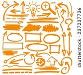 hand drawn highlighter elements ... | Shutterstock .eps vector #237237736