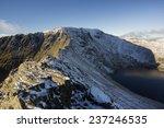 Mountain Ridge In The Snow ...