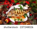 Roasted Whole Carp Stuffed Wit...