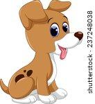 Stock vector cute puppy cartoon 237248038