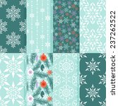 seamless patterns with snow... | Shutterstock .eps vector #237262522