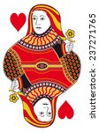 queen of hearts without playing ... | Shutterstock .eps vector #237271765
