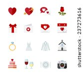 wedding and love icons   flat... | Shutterstock .eps vector #237273616