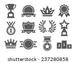 awards icons | Shutterstock .eps vector #237280858
