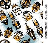african masks. seamless...   Shutterstock .eps vector #237283858