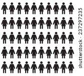 man and woman figures ... | Shutterstock .eps vector #237297235