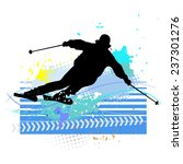 skier   vector illustration | Shutterstock .eps vector #237301276