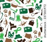 simple backwoodsman icons... | Shutterstock .eps vector #237301972