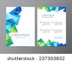 vector flyer  green and blue... | Shutterstock .eps vector #237303832