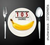 vector of calories in banana | Shutterstock .eps vector #237309856