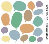 big speech bubble set. colorful ... | Shutterstock .eps vector #237315526