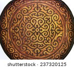 flat plate in chinese lacquer... | Shutterstock . vector #237320125