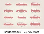 different types of car body... | Shutterstock .eps vector #237324025