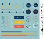 flat design web elements.... | Shutterstock .eps vector #237325735