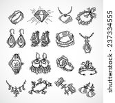 jewelry decorative icons set...   Shutterstock .eps vector #237334555