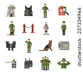border guard icons flat set... | Shutterstock .eps vector #237334966