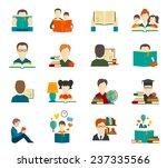 people reading book... | Shutterstock .eps vector #237335566