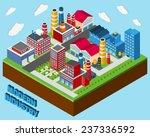industrial buildings isometric...   Shutterstock .eps vector #237336592