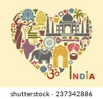 symbols of india in the form of ... | Shutterstock .eps vector #237342886
