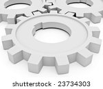 beautiful gears which symbolise ... | Shutterstock . vector #23734303