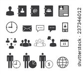 business icons set.... | Shutterstock .eps vector #237346012