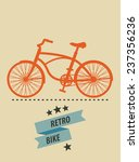 retro bike vector illustration  ... | Shutterstock .eps vector #237356236