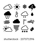 weather icons set. vector eps... | Shutterstock .eps vector #237371596
