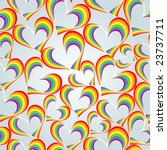 Rainbow Like Hearts Seamless...