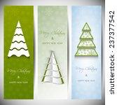 set of vertical christmas... | Shutterstock .eps vector #237377542