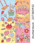 happy birthday party card ... | Shutterstock .eps vector #237383932